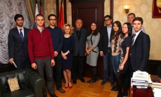 Встреча декана ФМП А.А.Кокошина с членами Студсовета ФМП